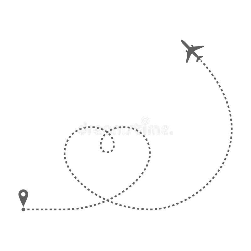 Flygplanrutthj stock illustrationer