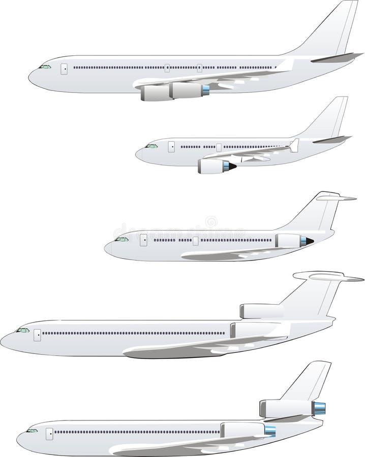 flygplanset stock illustrationer