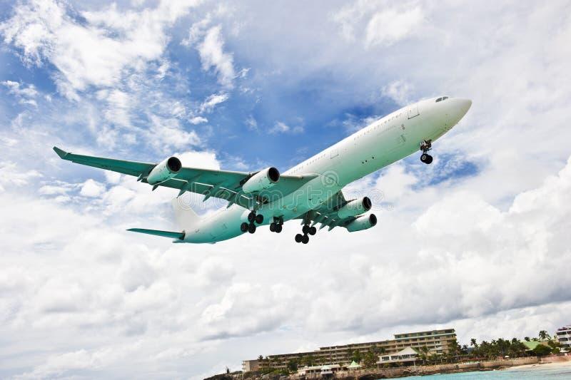 Flygplansida arkivfoto