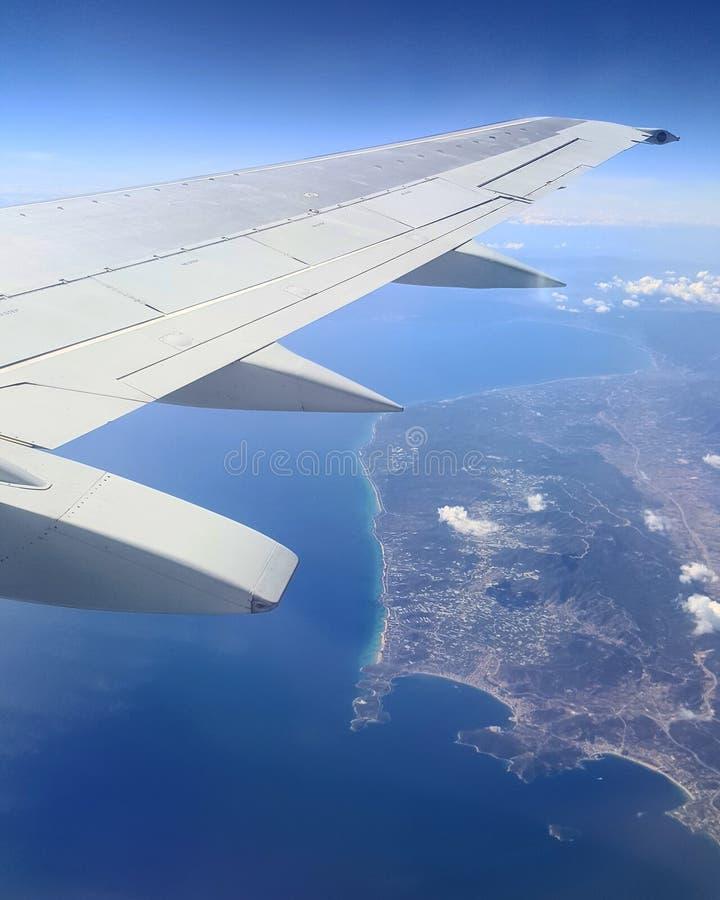 Flygplansikt royaltyfria bilder