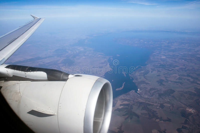 flygplansiktsfönster royaltyfri bild