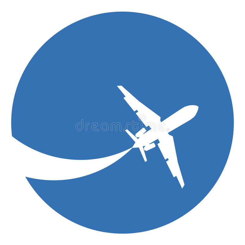 flygplansilhouette stock illustrationer