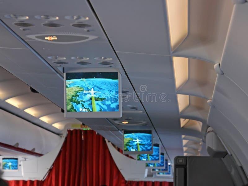 flygplanskärmar royaltyfri fotografi