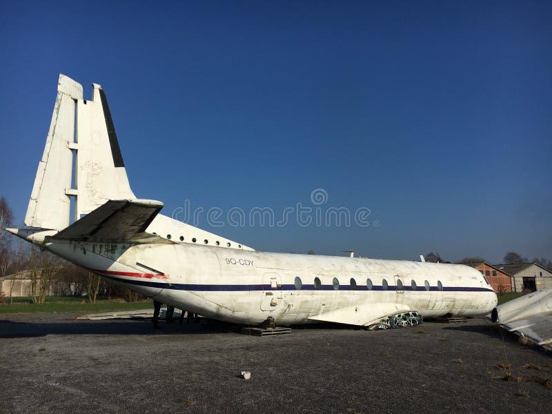 Flygplanskrasch royaltyfria bilder
