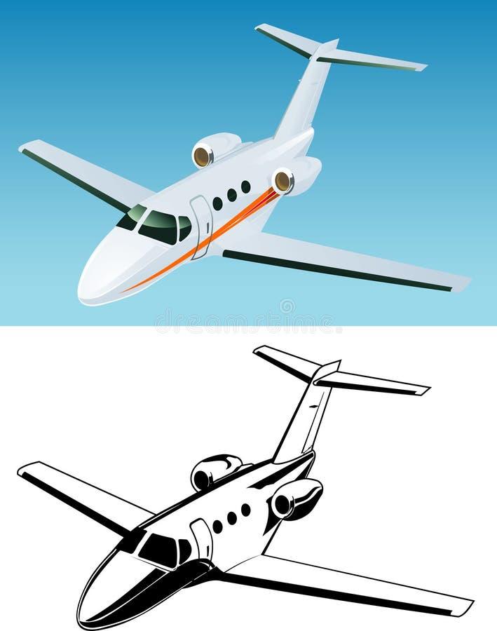 flygplanstrålpassagerare royaltyfri illustrationer