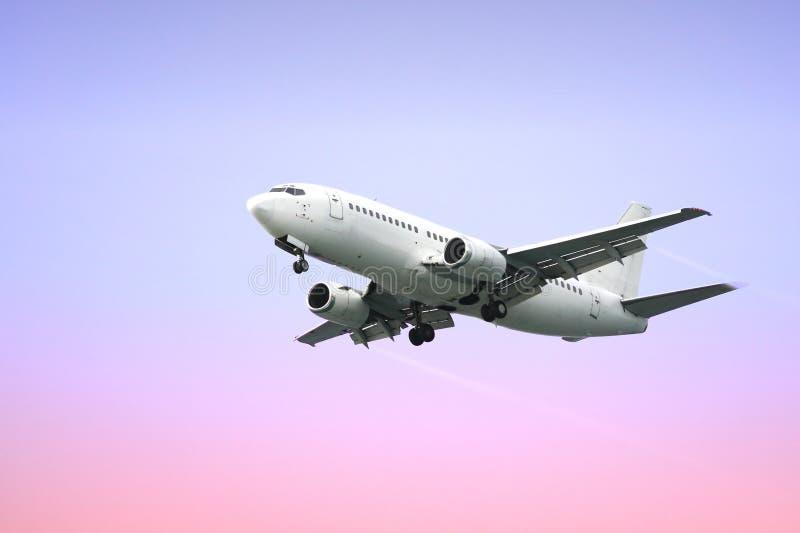 flygplanstrålpassagerare royaltyfria bilder