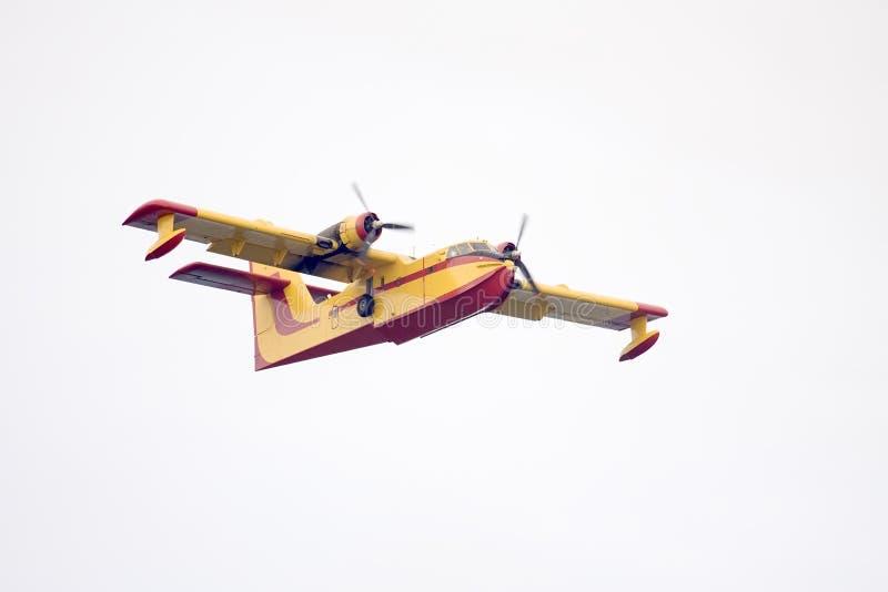 flygplanstridighetbrand fotografering för bildbyråer