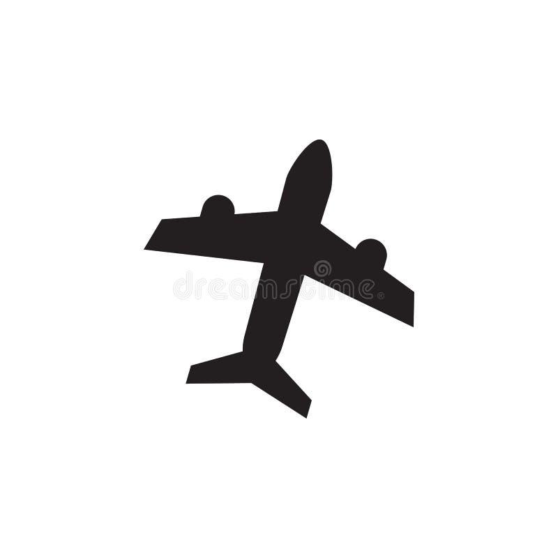Flygplansymbol Beståndsdelar av stranden semestrar symbolen Högvärdig kvalitets- grafisk design Tecken och symbolsymbol för websi vektor illustrationer