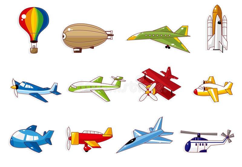 flygplantecknad filmsymbol stock illustrationer