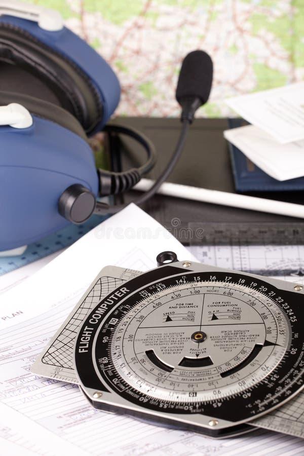 flygplanutrustningpilot arkivfoton
