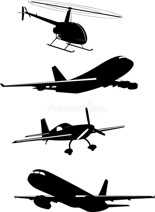 flygplanvektor royaltyfri illustrationer