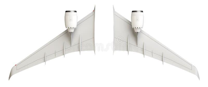 Flygplanvingar vektor illustrationer