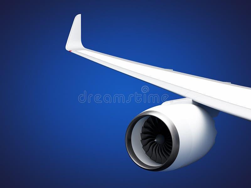Flygplanvingar royaltyfri illustrationer