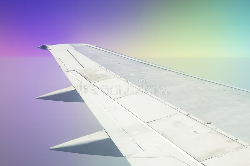 Flygplanvinge royaltyfri foto