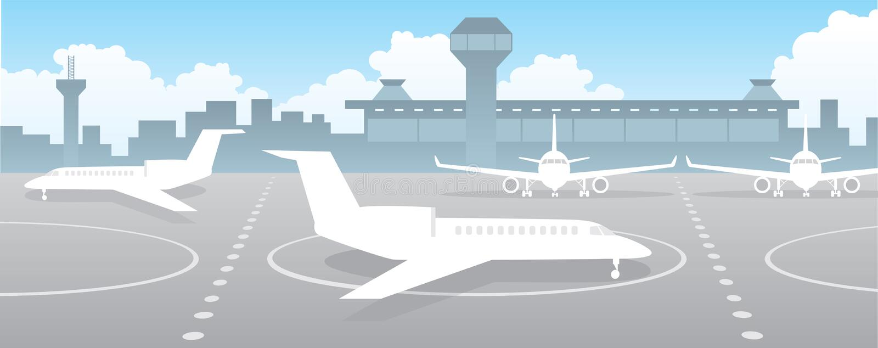 flygplats vektor illustrationer