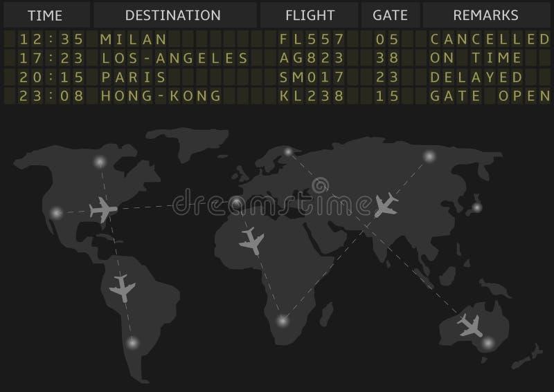 Flygplats royaltyfri illustrationer