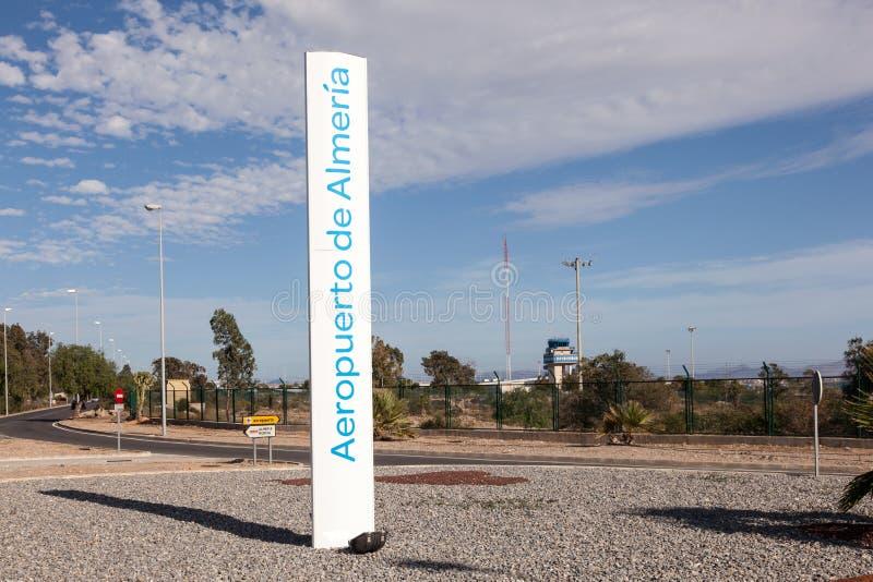 Flygplats av Almeria, Spanien arkivbilder