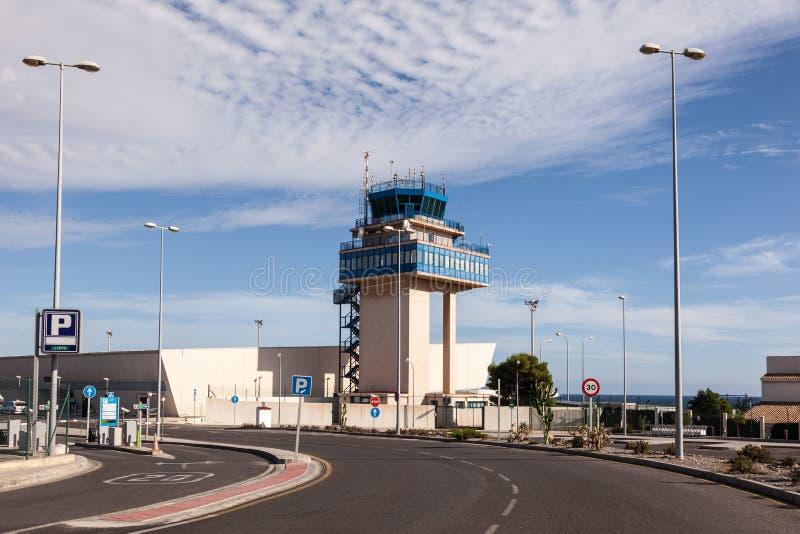 Flygplats av Almeria, Spanien royaltyfri bild