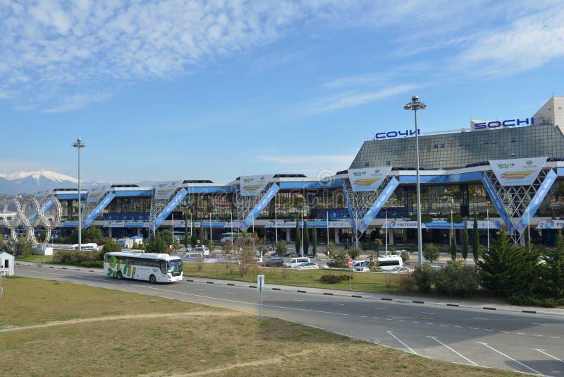 Flygplats av Sochi royaltyfri bild