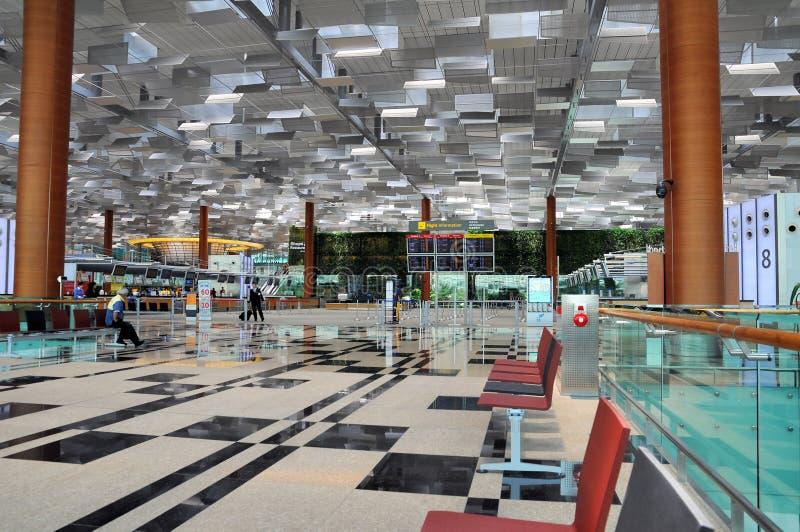flygplats changi singapore royaltyfria foton