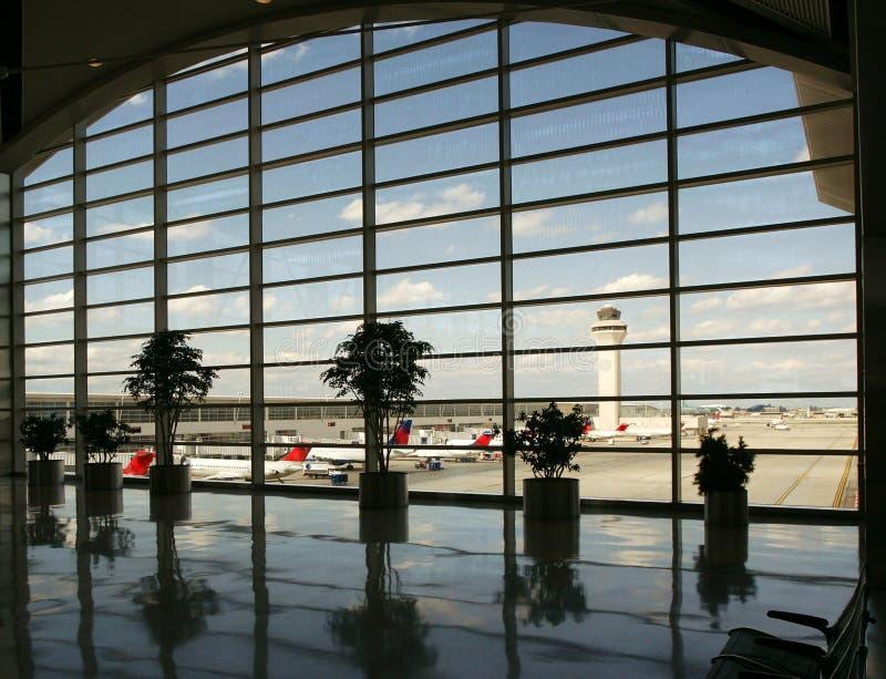flygplats detroit arkivbilder