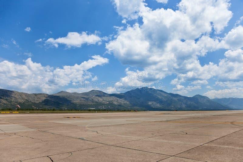 Flygplats Dubrovnik fotografering för bildbyråer