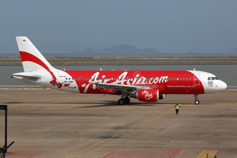 Flygplats för luftAsien flygbuss A320 Macao arkivbilder