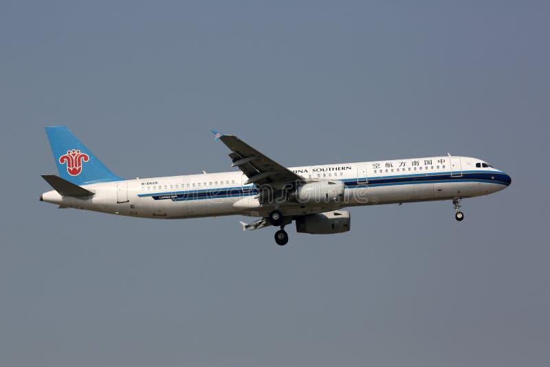 Flygplats för Peking för flygplan för Kina sydlig flygbuss A321 arkivfoton