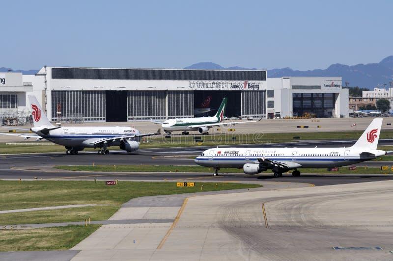 Flygplats för Planeï ¼Kina Beijing Capital arkivbild