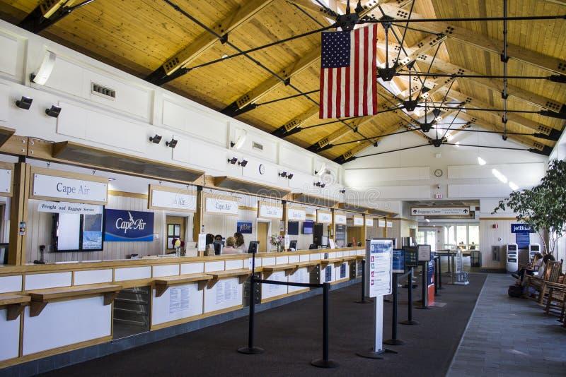 Flygplats för vingård för Martha ` s, Massachusetts arkivbild