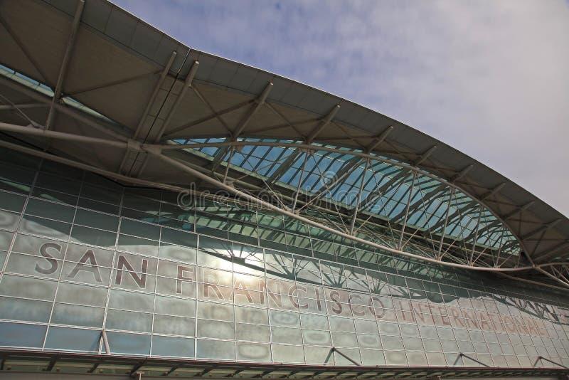 flygplats francisco san arkivbild