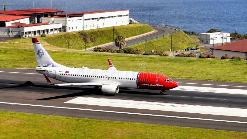 Flygplats Funchal, madeiraö, Portugal arkivfoto