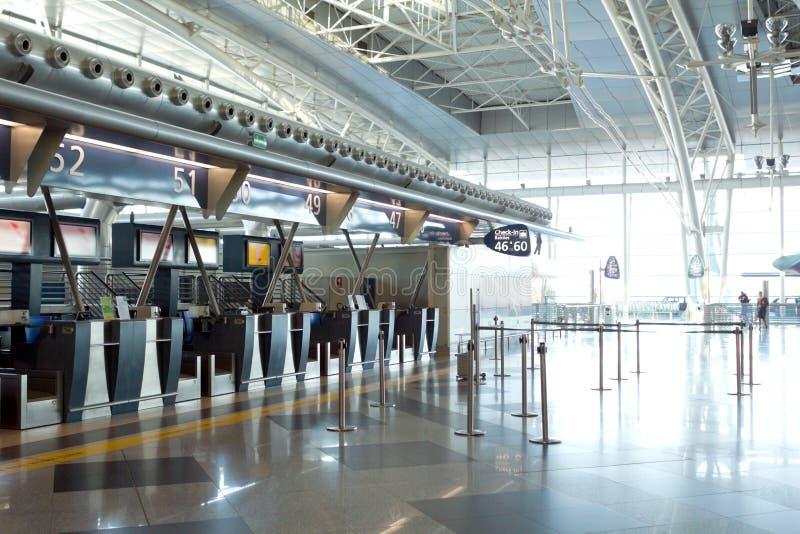 Flygplats inomhus royaltyfria foton