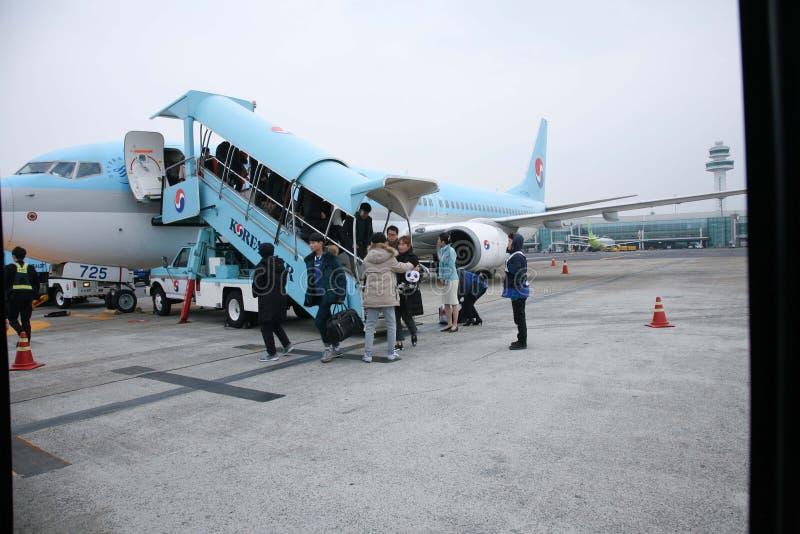 Flygplats Korean Air, Sydkorea royaltyfri foto