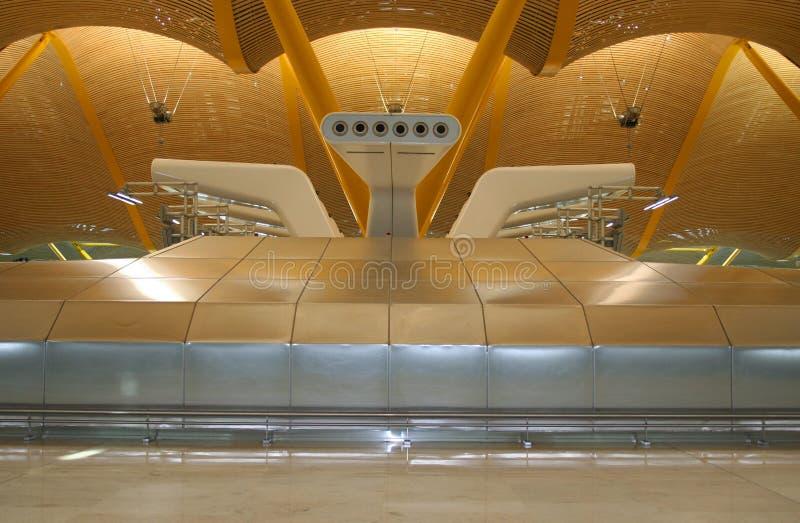 flygplats madrid royaltyfri foto