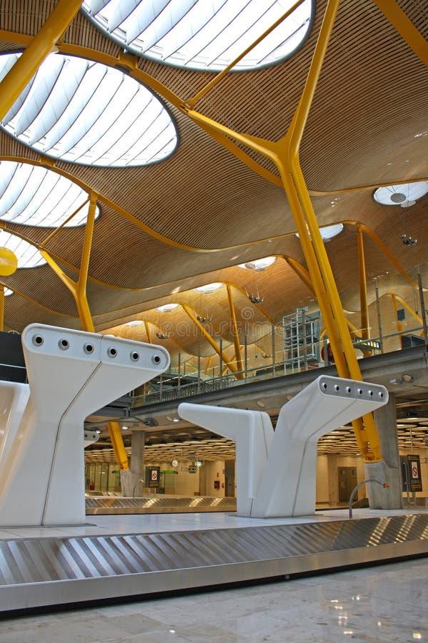 flygplats madrid arkivbild