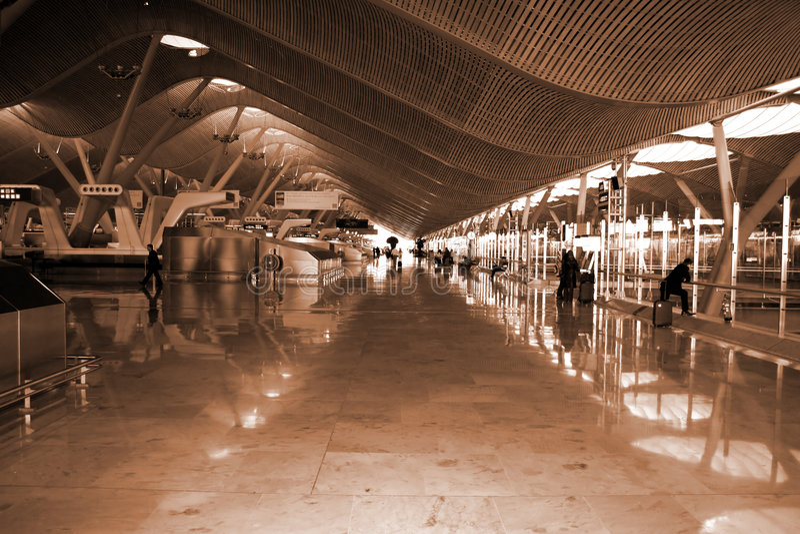 flygplats madrid spain arkivfoto