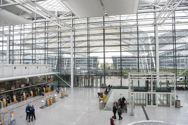 Flygplats Munich royaltyfri fotografi