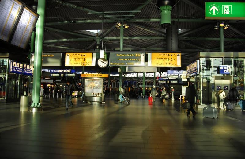 flygplats schiphol royaltyfri fotografi