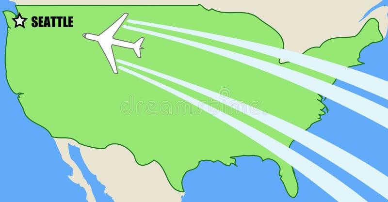 flygplats seattle stock illustrationer