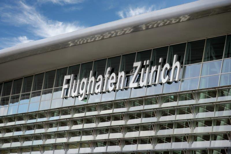 flygplats switzerland zurich arkivfoton