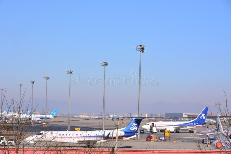 flygplatsbeijing international royaltyfri fotografi