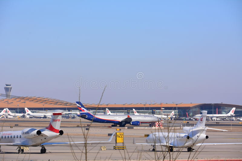 flygplatsbeijing international fotografering för bildbyråer
