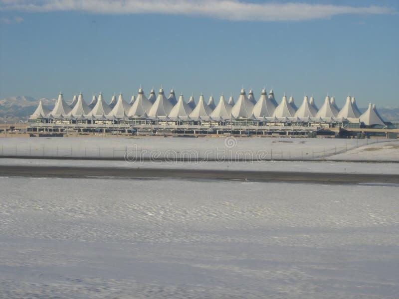 flygplatsdenver international arkivfoton