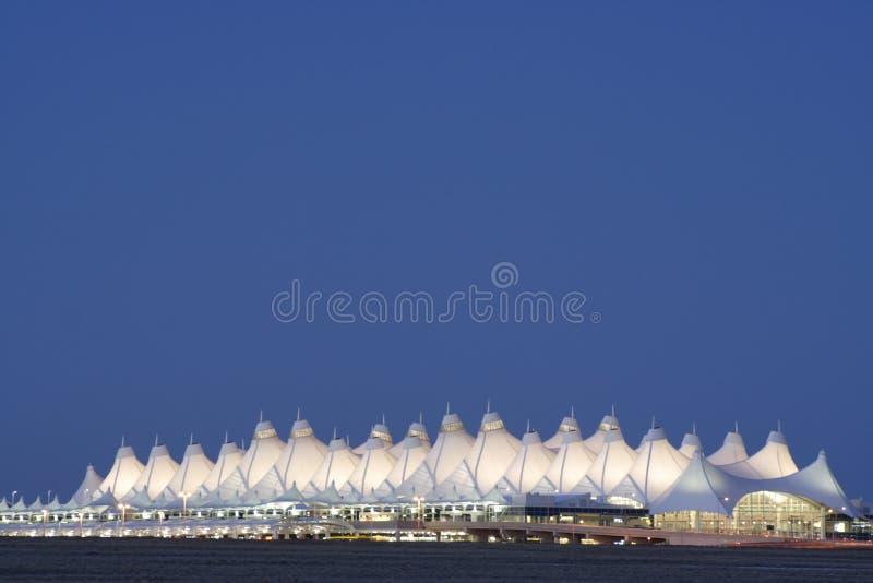 flygplatsdenver international royaltyfria foton