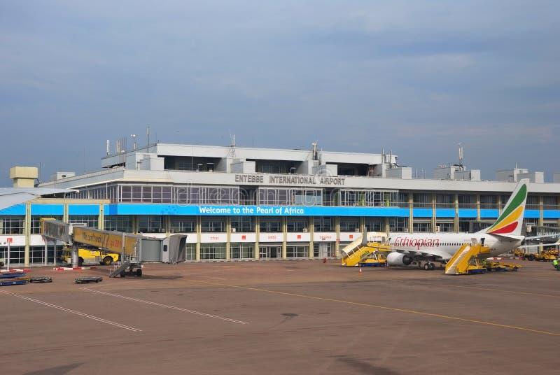 flygplatsentebbe international royaltyfri foto