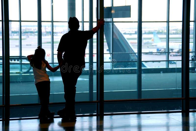 flygplatsfamilj royaltyfria foton