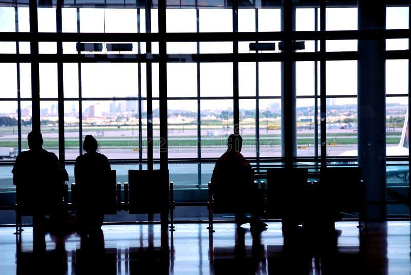 flygplatsfolk royaltyfri bild