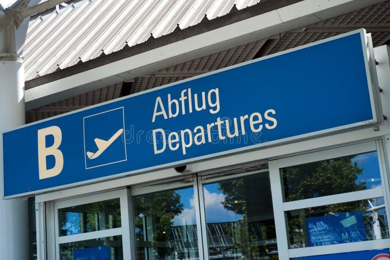 flygplatsfranz josef munich strauss fotografering för bildbyråer
