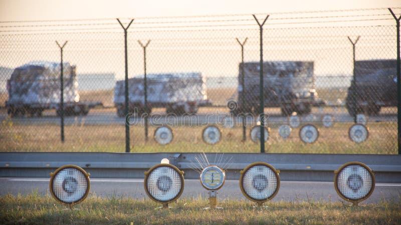 Flygplatsfyr arkivbilder
